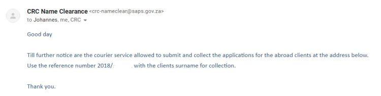 SAPS PCC Mail