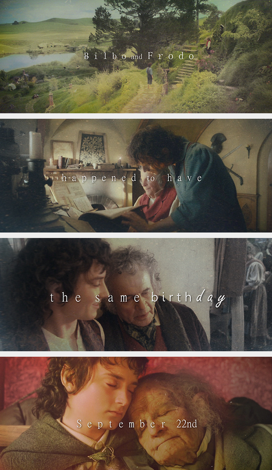 Birthday Bilbo and Frodo